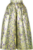 DELPOZO floral print cropped wide-leg trousers - women - Silk/Cotton/Polyester - 40