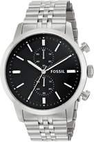 Fossil Men's FS4784 Townsman Analog Display Analog Quartz Silver Watch