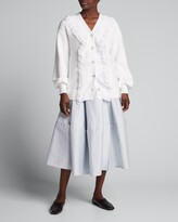 Thumbnail for your product : ADEAM Peony Tiered Ruffle-Trim Cardigan