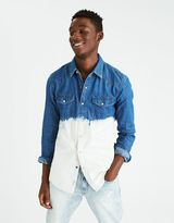 American Eagle Outfitters AE Bleached Denim Shirt