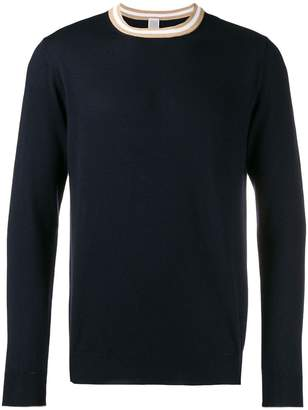 Eleventy stripe collar jumper