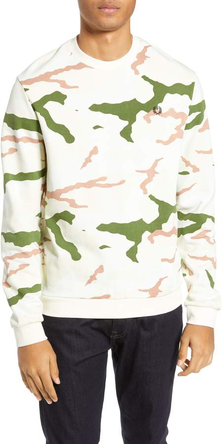 Fred Perry x Arktis Camo Crewneck Cotton Sweatshirt