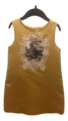 Dolce & Gabbana Gold Silk Dresses