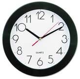 """Universal 93⁄4"""" Round Wall Clock White/Black"""