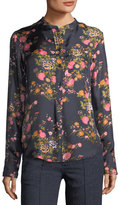 Isabel Marant Rusak Floral-Print Silk Shirt