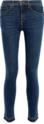 Veronica Beard Kate 10 Distressed Mid-rise Skinny Jeans