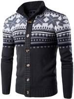 CeRui Men's Turtleneck Cardigan Sweater Casual Kintted Sweatertops M