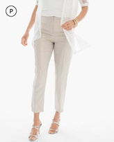 Chico's Foiled Linen Ankle Pants