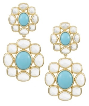 Trifari 14K Gold-Plated Drop Earrings