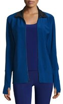 Norma Kamali Full-Zip Track Jacket, Blueberry