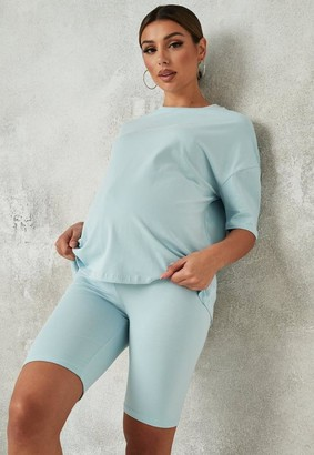 Missguided Maternity T Shirt and Cycling Shorts Co Ord Set