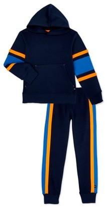 Cheetah Boys Fleece Hoodie and Jogger Pants Sweatsuit, 2-Piece Athletic Set, Sizes 2T-18 & Husky
