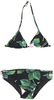 Dolce & Gabbana Kids Rose Print Bikini