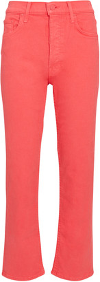 Mother Tomcat High-Rise Cropped Jeans