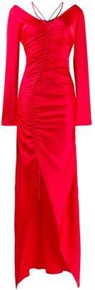 David Koma ruched evening dress