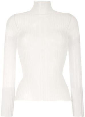 Dion Lee Pleated Long-Sleeved Top