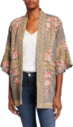 Johnny Was Plus Size Rianne Embroidered Linen Kimono