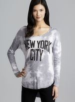 Signorelli Long Sleeve Tie Dye New York City Top