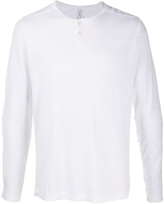 Transit long-sleeved Henley T-shirt