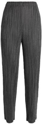 Pleats Please Issey Miyake Slim Pleated Trousers