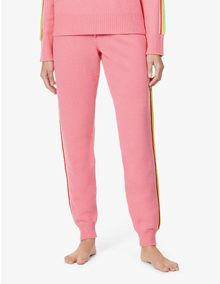 Chinti and Parker Ripple side-stripe tapered high-rise wool and cashmere-blend trousers