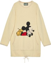 Gucci x Disney Mickey Mouse embroidered sweatshirt dress