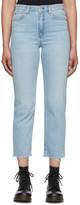 Rag & Bone Blue Nina High-Rise Ankle Jeans