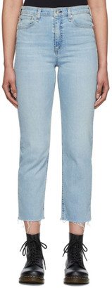 Rag & Bone Blue Nina High-Rise Ankle Jeans