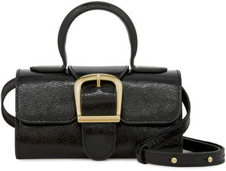Rylan Mini Satchel Crackled Patent Leather Top Handle Bag