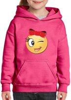 Artix Emoji Princess Bow Hoodie For Girls - Boys Youth Kids