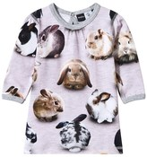 Molo Caroline Bunny Dots Print Sweater Dress