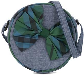 Familiar Checked Bow Detail Shoulder Bag