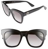 Gucci Women's 50Mm Cat Eye Sunglasses - Black/ Grey