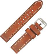 Dakota Men's 17136 Vintage Genuine Leather, Contrast Stitched with Thick Padding Watch Band (, 22mm)