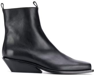Ann Demeulemeester square toe chelsea boots