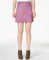 Kensie Faux-Suede Mini Skirt
