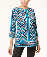 JM Collection Petite Printed Tunic, Created for Macy's
