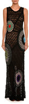Missoni Embroidered-Inset Sleeveless Gown, Black