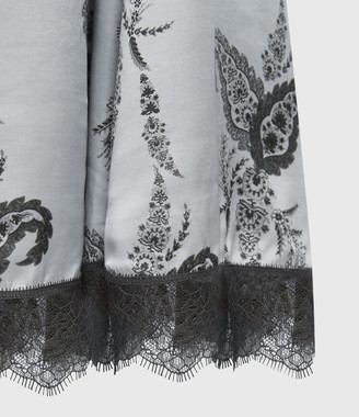 AllSaints Nysa Kashmir Silk Blend Skirt