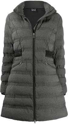 EA7 Emporio Armani Quilted High-Neck Coat