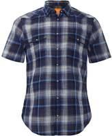Slim Fit Short Sleeve Erodeo Check Shirt