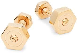 Tateossian Pink Goldplated Cufflinks