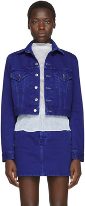Helmut Lang Blue Denim Femme Little Trucker Jacket