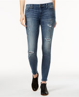 Tommy Hilfiger Ripped Embellished Medium Blue Wash Skinny Jeans, Only at Macy's