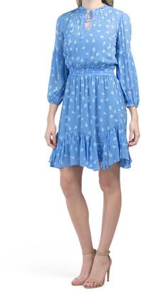 Sheer Floral Clip Mira Dress