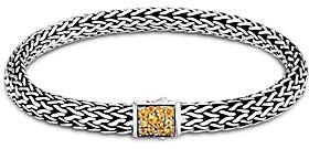 John Hardy Sterling Silver Classic Chain Black Sapphire & Citrine Reversible Bracelet