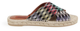 Missoni Diamond Espadrille Slides