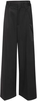 MM6 MAISON MARGIELA Oversize Wool Blend Twill Pants