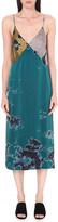 Raquel Allegra Tie-dye silk slip dress