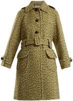 Prada Point-collar single-breasted wool coat